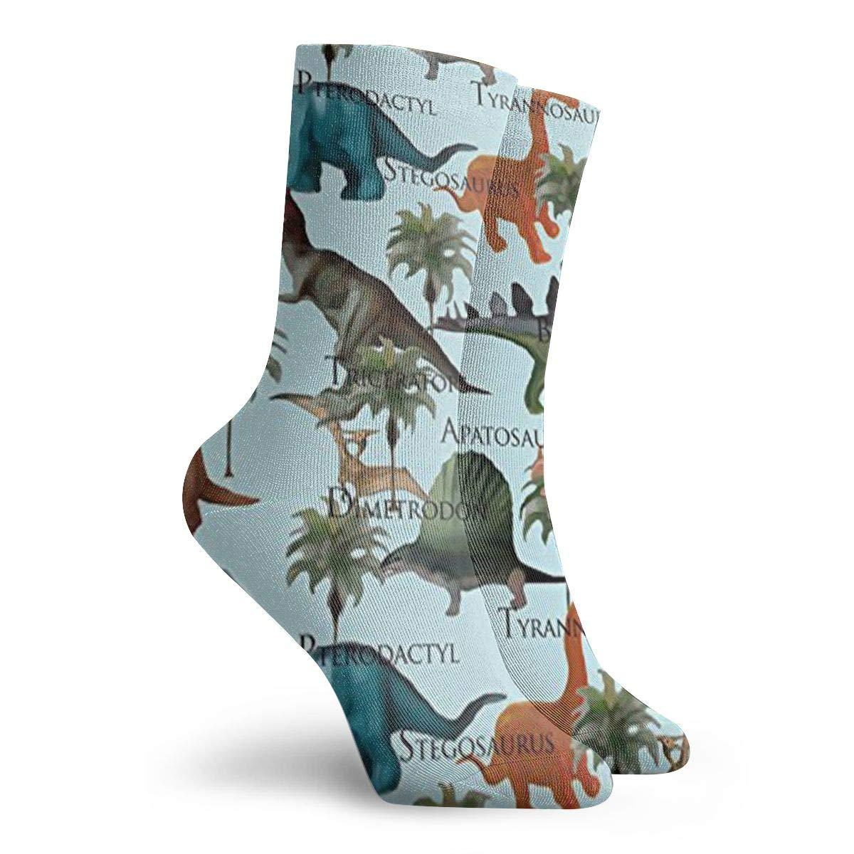 Dinosaurs Unisex Funny Casual Crew Socks Athletic Socks For Boys Girls Kids Teenagers