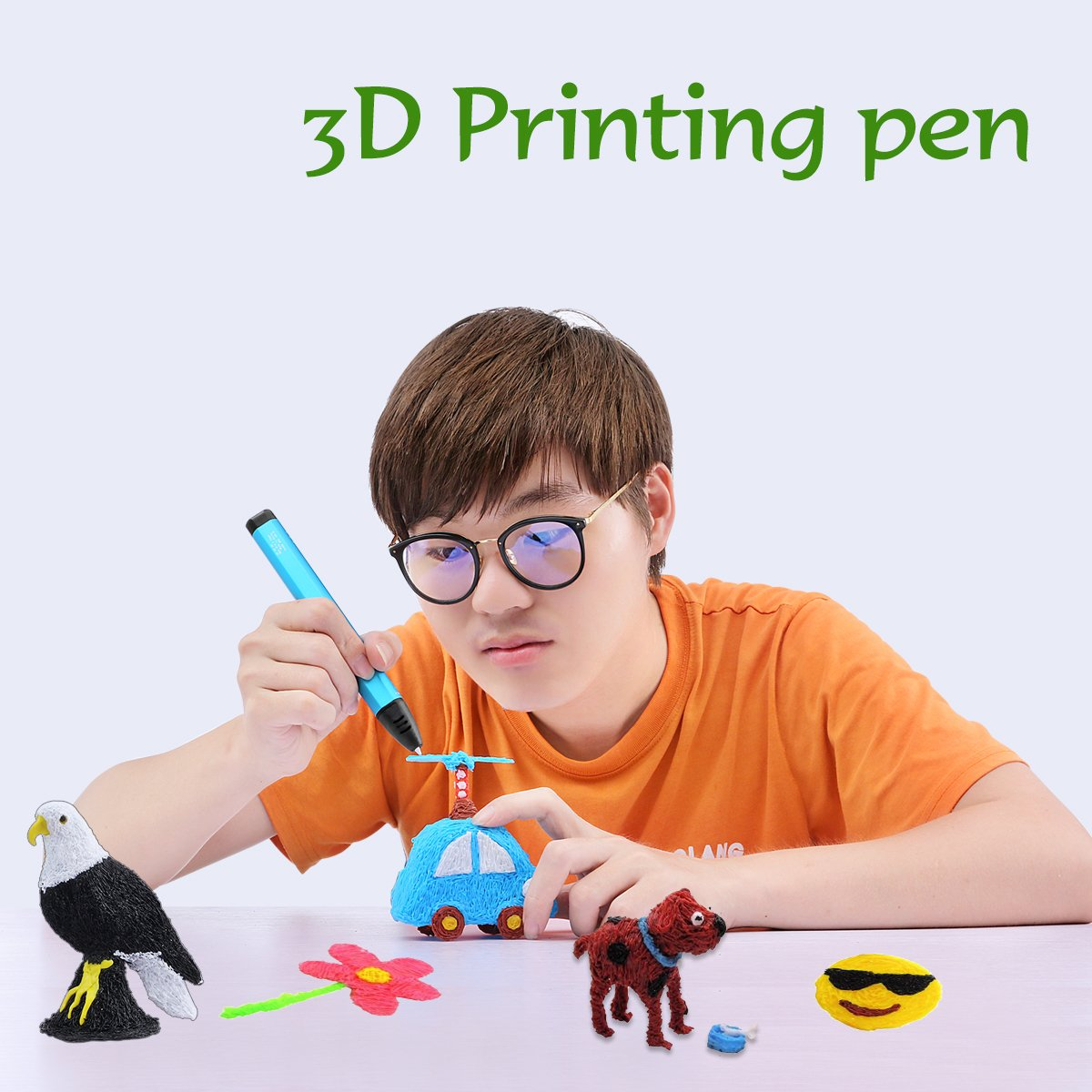 Artist TIPEYE 3D Pen with 18 Colors 10 Feet Each Total 180 Feet PLA Filament Refills 2019 Newest Version Doodling Adul Finger Stalls Paper Model and 200 Stencils Ebook for Kids Drawing etc DIY