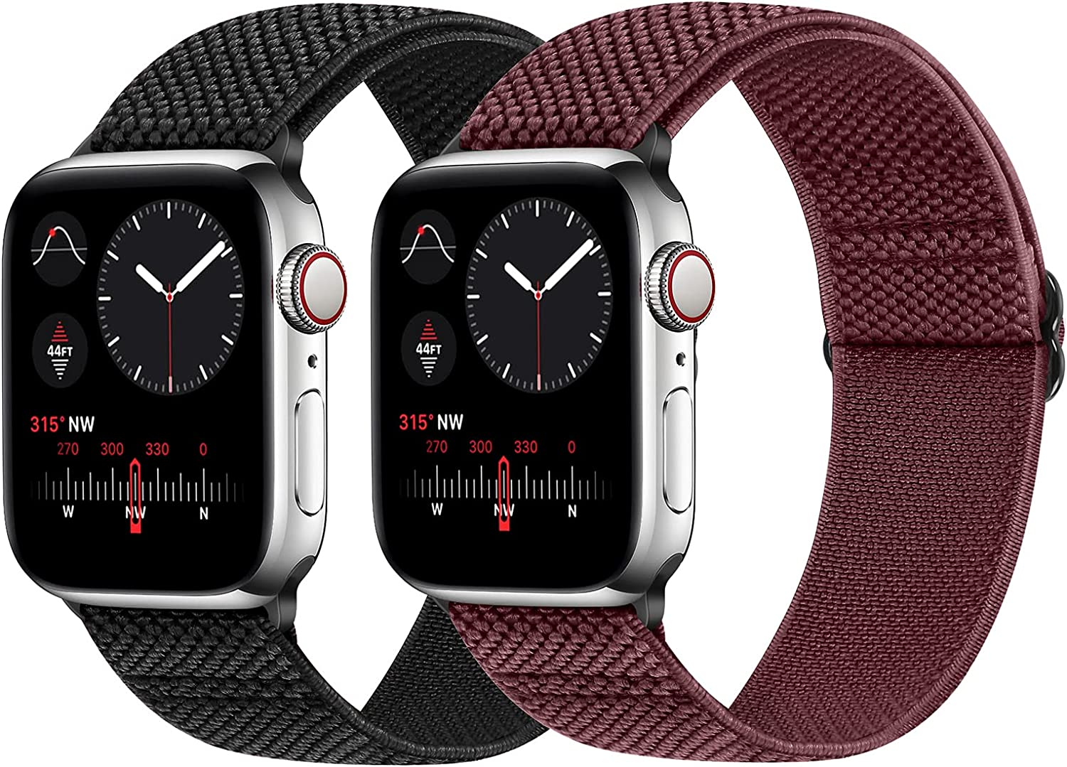 WNIPH Stretchy Adjustable Sport Bands Compatible with Apple Watch 38mm 40mm 42mm 44mm, Elastic Nylon Braided Solo Loop Replacement Wristband for iWatch Series 6/5/4/3/2/1/SE