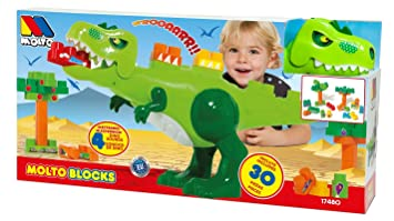 Molto Blocks Dinosaur With Sounds 17480 Amazon Co Uk Toys Games