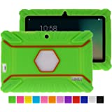 Turpro Rugged Defender Armor Shockproof Anti-slip Kids' Silicone Rubber Cover for Select 7-inch Android Tablets - Green
