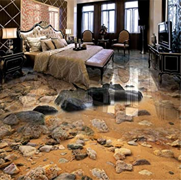 Fesselnd GBHL Seaside Sand Stein Wohnzimmer Bad 3D Boden Malerei Benutzerdefinierte  Große Fresko PVC Dicken Verschleißfesten Bodenbelag