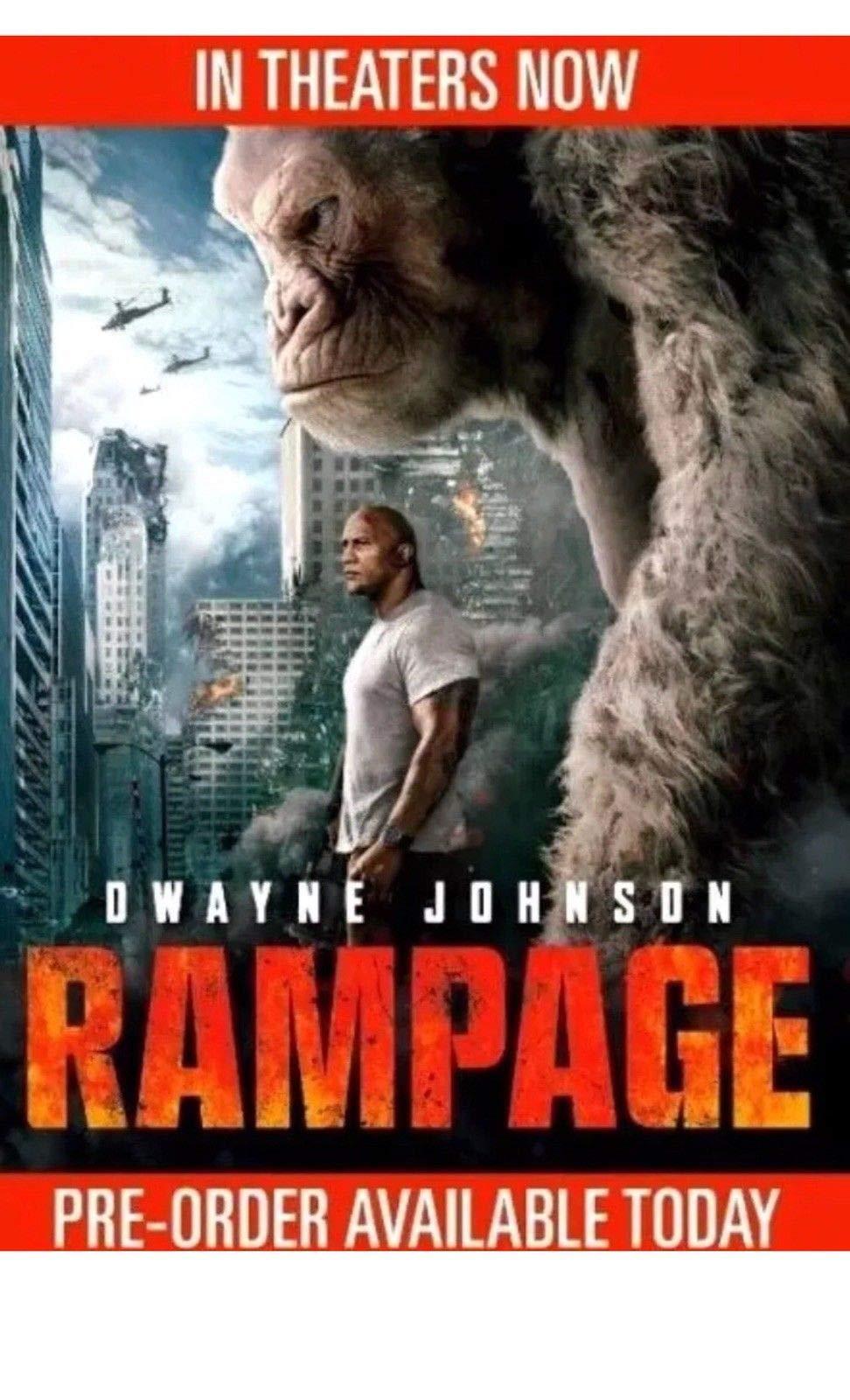 Rampage (DVD,2018) NEWAction