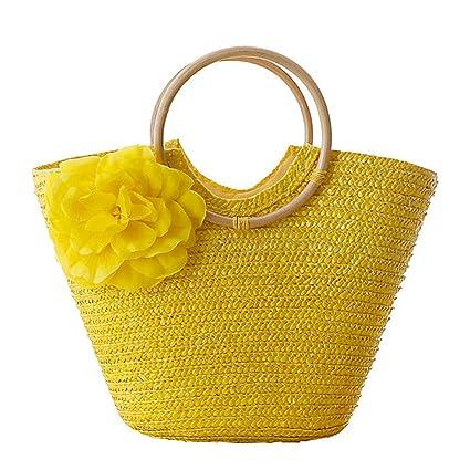 Amazon.com: Flower Beach Bag Women Handbags Bohemian Ladys ...