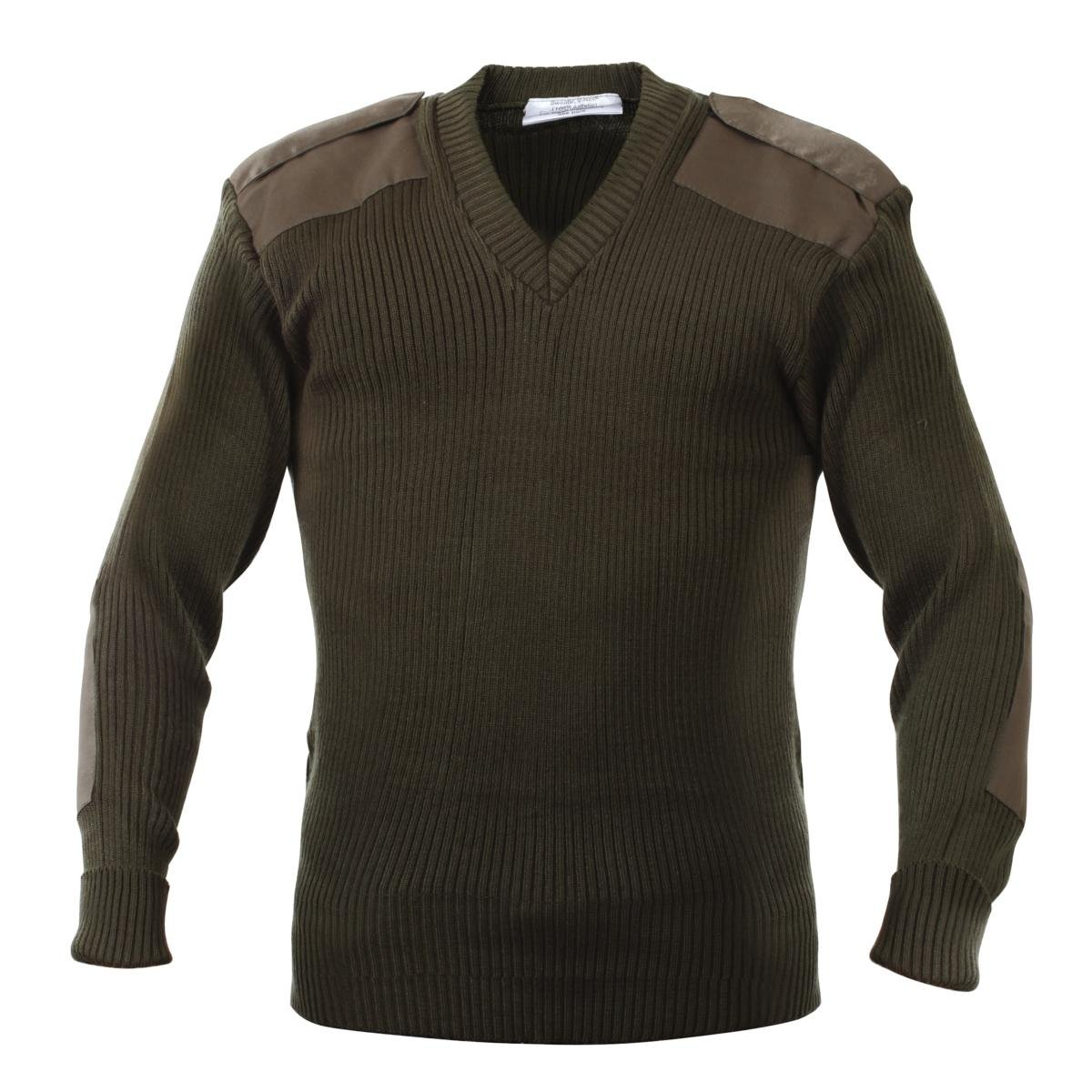 Rothco Acrylic V-Neck Sweater in Olive Drab - Large