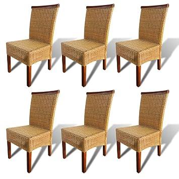 Amazon.de: Festnight 6 Stk. Set Esszimmerstühle Essstuhl Essstühle ...