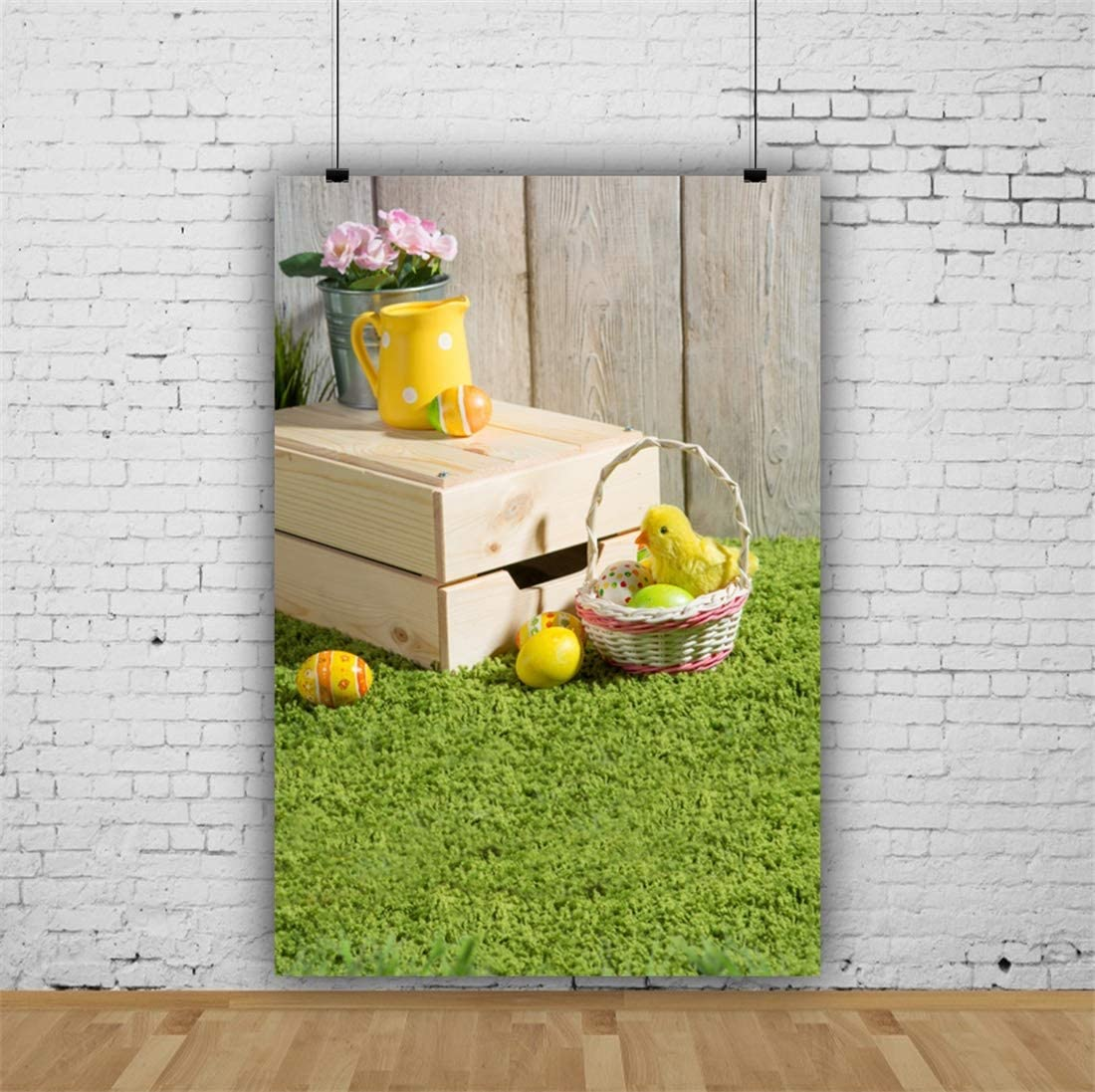Yeele-Easter-Backdrop 3x5ft Happy Easter Photography Background Eggs Grassland Colorful Flower Photo Backdrops Pictures Studio Props Wallpaper