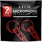 Clip On Lavalier Lapel Microphone 2 Pack Set - iPhone & Android Compatible