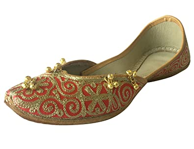 Schritt N Style Damen Khussa Schuhe Panjabi jutti Kameez flach Sandalen Flach mojri YGnH4FPYQ4