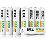 EBL 12 Pack Rechargeable AA Batteries 2300mAh Ni-MH Batteries