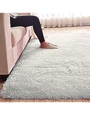 MultiWare Fluffy Area Rugs Anti-Skid Yoga Carpet For Living Room Rugs Bedroom (120cm x 80cm)