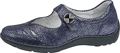 Waldläufer Damen Slipper TAGO 496309 117194 blau 812329
