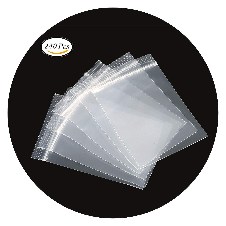 c4af6c9be3 Sacs en plastique transparents refermables, sac scellé, sac de rangement,  5X7cm 240pcs, épaississement durable, s'appliquent aux ménages articles ...