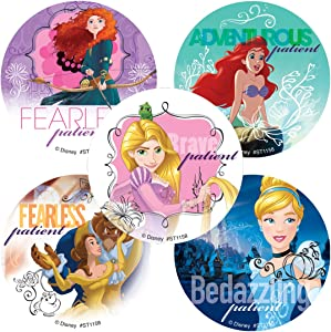 SmileMakers Disney Princess Friendship Patient Stickers - Prizes 100 Per Pack