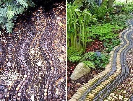 ALDDPX Guijarro Lluvia Flor Piedra Natural Colorido pavimento de Piedra jardín paisajismo pecera decoración Original Piedra Patio de Piedra-Multicolor_1-3cm: Amazon.es: Hogar