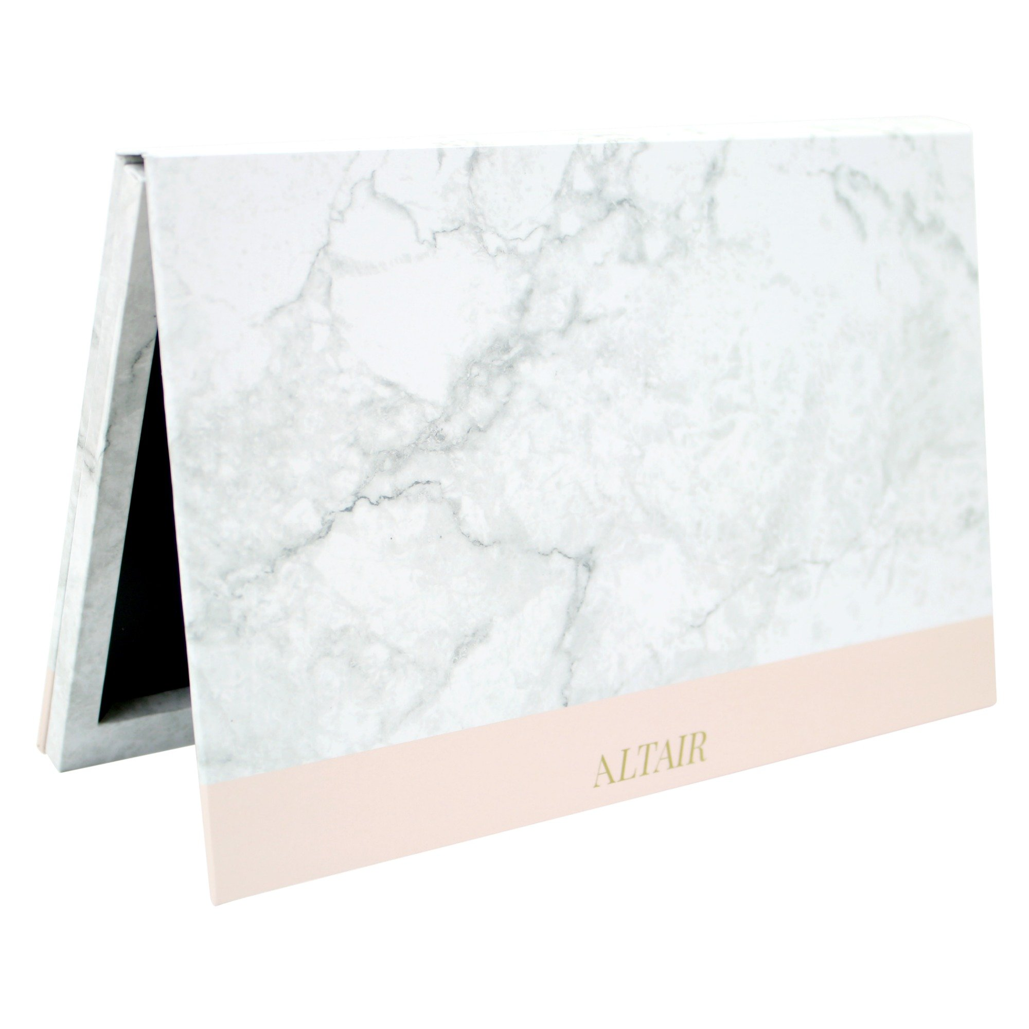 Marble Large Empty Magnetic Makeup Palette Set for Depotting with 10 pcs Magnetic Stickers. Depot Eyeshadows, Highlighters, and Blushes by Altair Beauty.