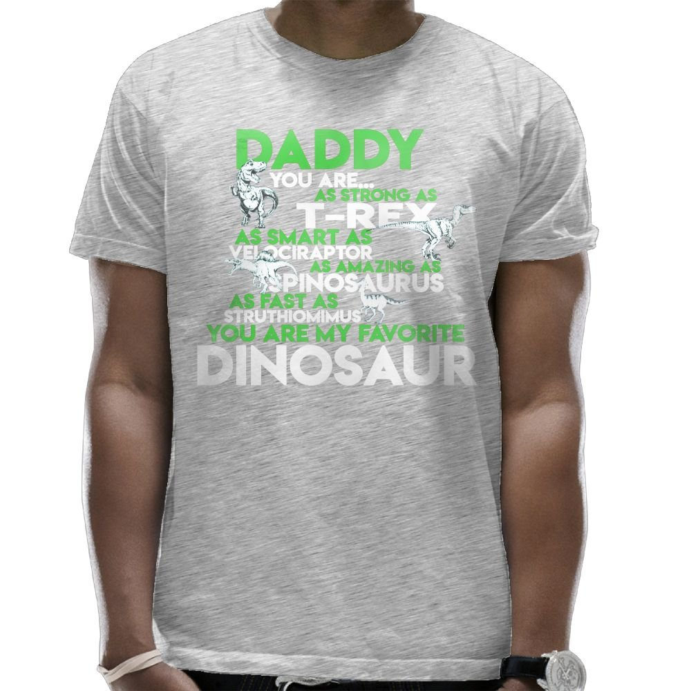 18db43c85 Romantic Fish Daddy You are My Favorite Dinosaur T Shirts for Men White  Summer Pattern Top Cartoon DeepHeather | Amazon.com
