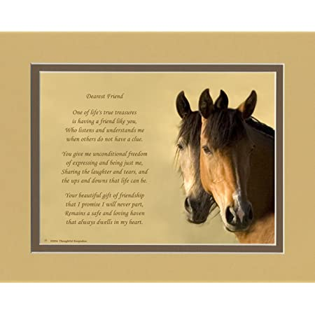 Horses Photo with Gift of Friendship Poem