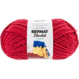 Bernat Blanket Brights Big Ball Yarn, 10.5 Ounce, Racecar Red, Single Ball