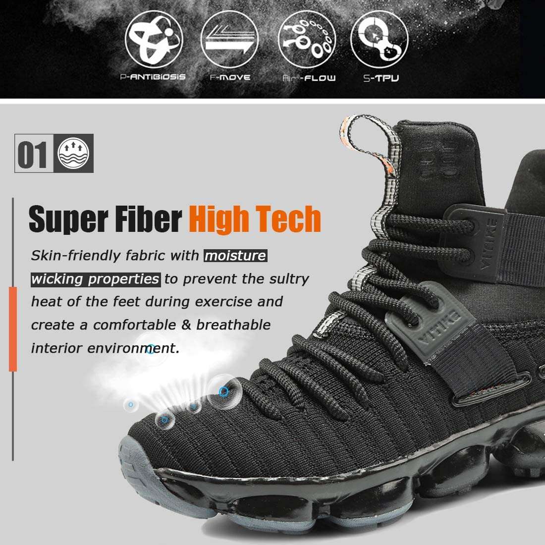 WETIKE Kids Basketball Shoes High-Top Sneakers Outdoor Trainers Durable Sport Shoes(Little Kid/Big Kid)