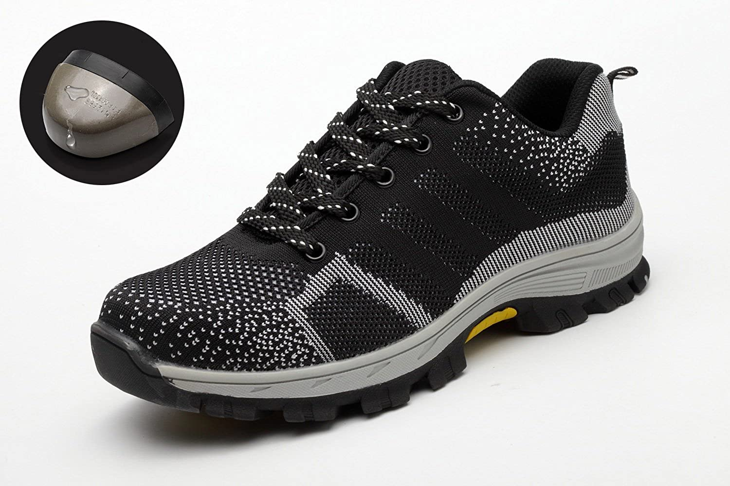 ba825ec8ecb Mens Womens Safety Trainers Shoes Steel Toe Cap Work Shoes Lightweight  Hiker Midsole Protection