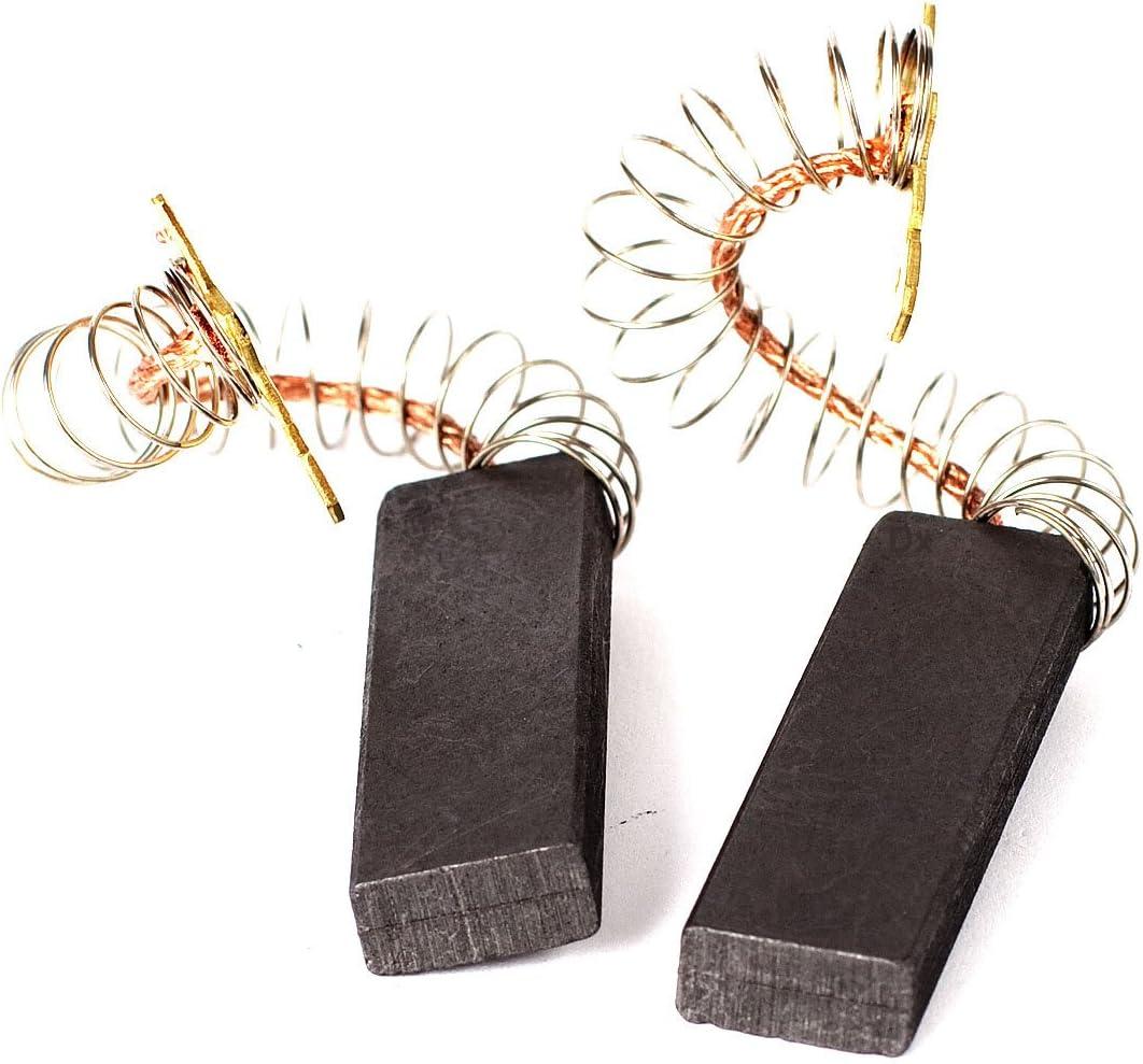DREHFLEX -MK05 - carbones de motor / escobillas de carbón / escobillas de carbón / escobillas de carbón para varios aparatos de Bosch, Siemens, Constructa - 12,5 x 5 x 36 mm - sin soporte - juego de 2
