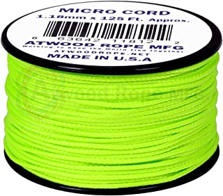 product image for Neon Green MS18 1.18mm x 125' Micro Cord Paracord Made in the USA