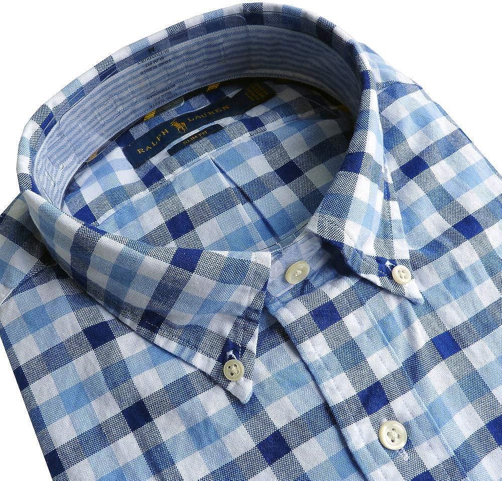 Ralph Lauren Camisa Polo Talla XL, Slim Fit, Azul: Amazon.es ...