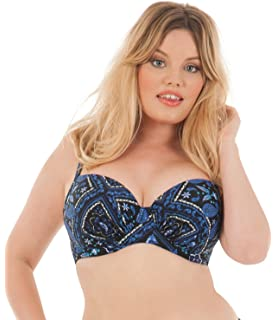 28a9d8a4e6486 Curvy Kate Sail Away Halterneck Bikini Top Blue Size 32DD: Amazon.co ...