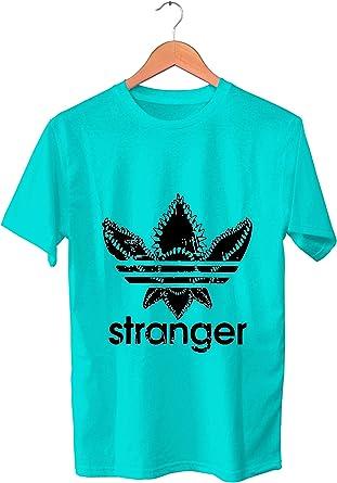 Camiseta Stranger Things. Mike Eleven Dustin Lucas Will. Logo Demogorgon. XL: Amazon.es: Ropa y accesorios