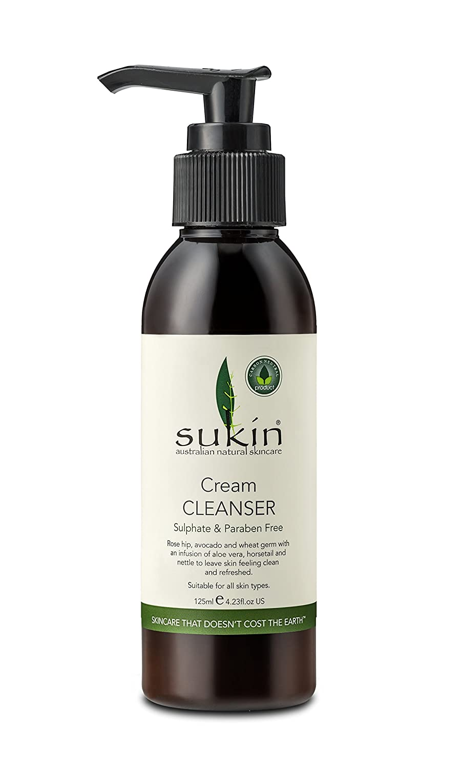 Sukin Cream Cleanser Pump 125ml SCCP