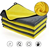 OAN All Purpose Microfiber Cloth for Cleaning, Dusting, Detailing & Polishing (All Vehicles, Office, Kitchen, Home) | 800 GSM | 45x45 cm (Pack of 4) (Random Color)