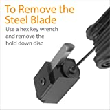 Corner Wood Chisel Squaring Tool for Cutting Square Mortised Door Hinge Recesses, Square Off Mortises For Frames, Box Tops, Lids, Doors and Flip up Drawers