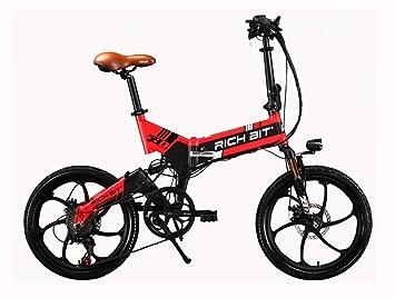 RICH BIT RT730 - Bicicleta eléctrica plegable de ciudad, unisex, 250W*48V*
