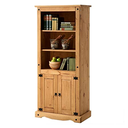 Mexico Mobel Solid Pine Bookcase In Mexican Style 83 X 177 X 42 Cm