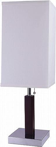 ORE International 8311 26-Inch Square Retro Steel Table Lamp