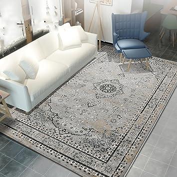 ZZHF Teppich Einfache Quadratische Teppich Wohnzimmer Studie Schlafzimmer  Bett Teppich 4 Farben Erhältlich Größe Optional Teppich