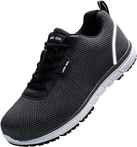 Amazon.com: LARNMERN Zapatos de acero para hombre ...