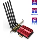 EDUP LOVE Wireless WiFi Network Card AC1900 PCI Express Adapter PCIe Wi-Fi Dongle 1900Mbps 2.4G 5G Dual Band Antennas Heat Sink Technology for Desktop with Windows 10/8.1/7