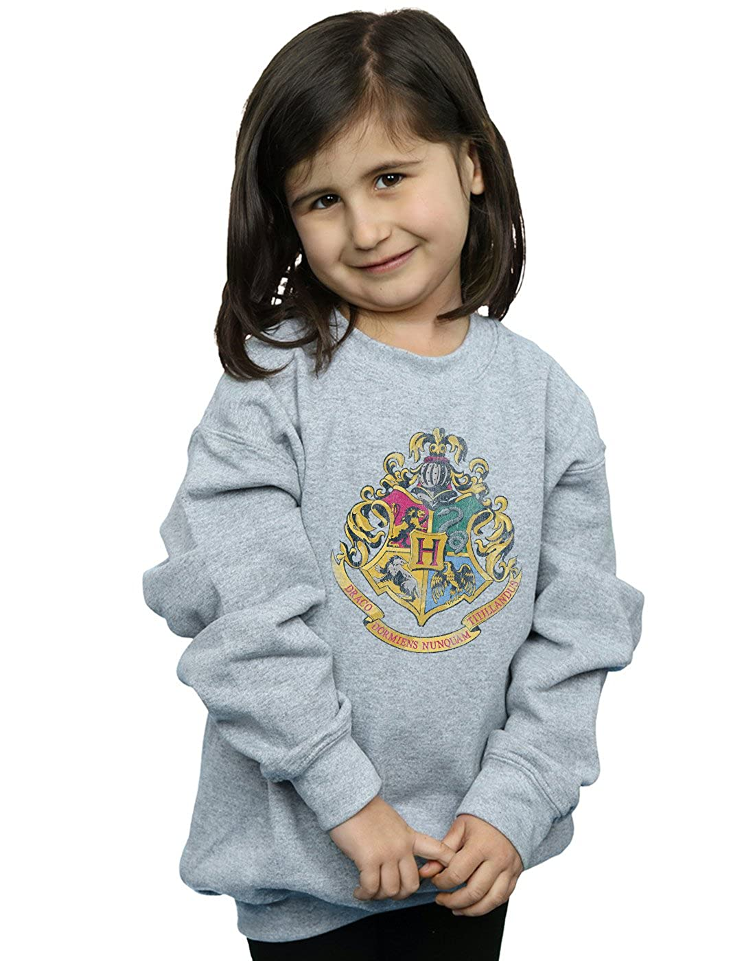 Harry Potter Fille Hogwarts Distressed Crest Sweat-Shirt Absolute Cult