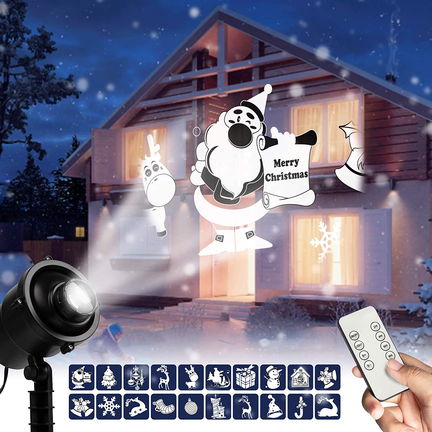LED Snowflake Projector Lights Outdoor Lawn Lamp Laser Light Party Decor USA HOT
