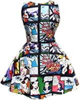 Women's Hemet Comic Strip Skater Dress II