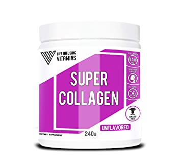 Super Collagen, Collagen Plus Biotin and Vitamins, Grass Fed, Pasture-Raised, Non-GMO, Joint Bone Support, Glowing Skin, Strong Hair and Nails, ...
