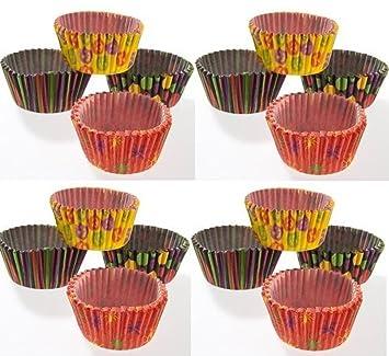 Halloween de papel para tazas – tazas de moldes para cupcakes (50) | de