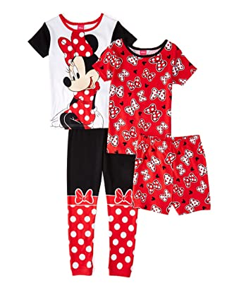 091ba5adb Amazon.com  Disney Girl s Size 4 MINNIE MOUSE Bows 4-Piece Pajama ...