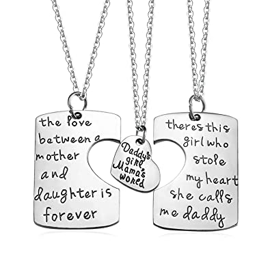 Amazon sobly 3 piece mother father daughter heart pendant sobly 3 piece mother father daughter heart pendant necklace setdaddys girl mommys world mozeypictures Choice Image