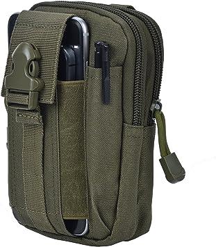 Bolsa Compacta de Táctico Bolso de Cintura Riñonera Militar Hombre para Móviles Camping Deporte al Aire Libre