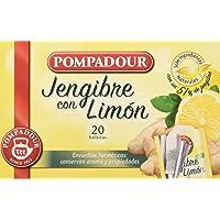 Pompadour Té Infusion Jengibre con Limón, 20 bolsitas