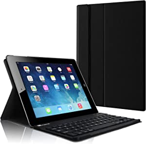 Fintie Keyboard Case for iPad 4th Generation with Retina Display, iPad 3 & iPad 2 (Old Model), Slim Lightweight Stand Cover with Magnetically Detachable Wireless Bluetooth Keyboard - Black