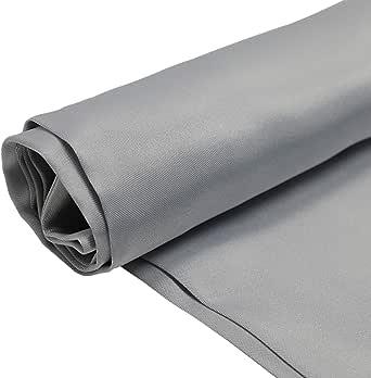 Silk Stan Fabric, 44 Inch x 25 Yard, Grey